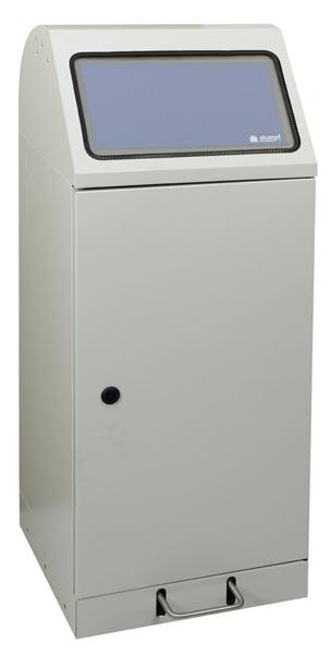 Abfallbehälter Flex M , Stahleinsatz,70 l, Fußhebel
