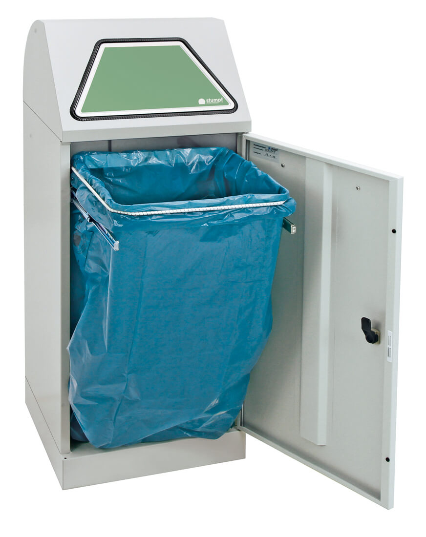 Abfalltrennung Modul-Vario 75, ProSlide-System, lichtgrau
