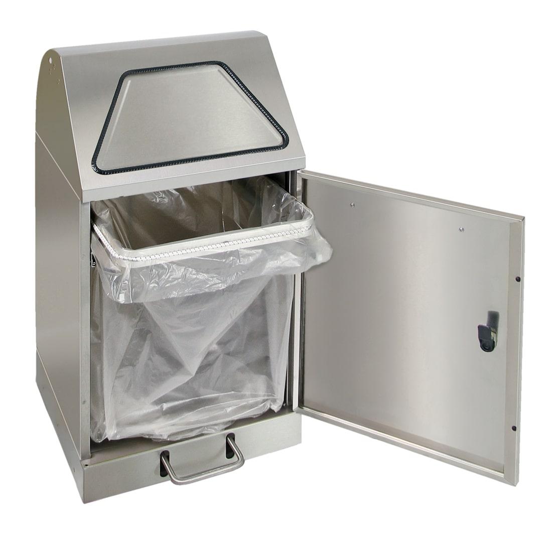 Abfalltrennung Modul-Vario 45, ProSlide-System, Trethebel, edelstahl