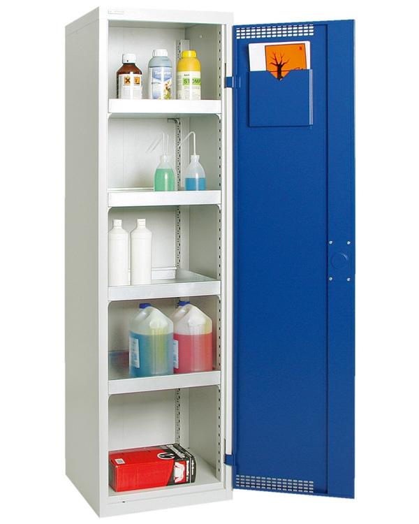 Umweltschrank Basic-Plus-3, lichtgrau/blau