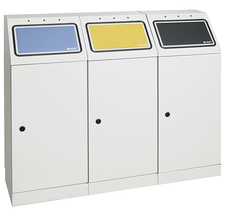 Abfalltrennung FD 45, 3-fach-Station
