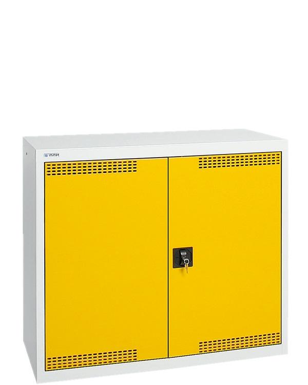 Umweltschrank StawaR-2, lichtgrau/gelb