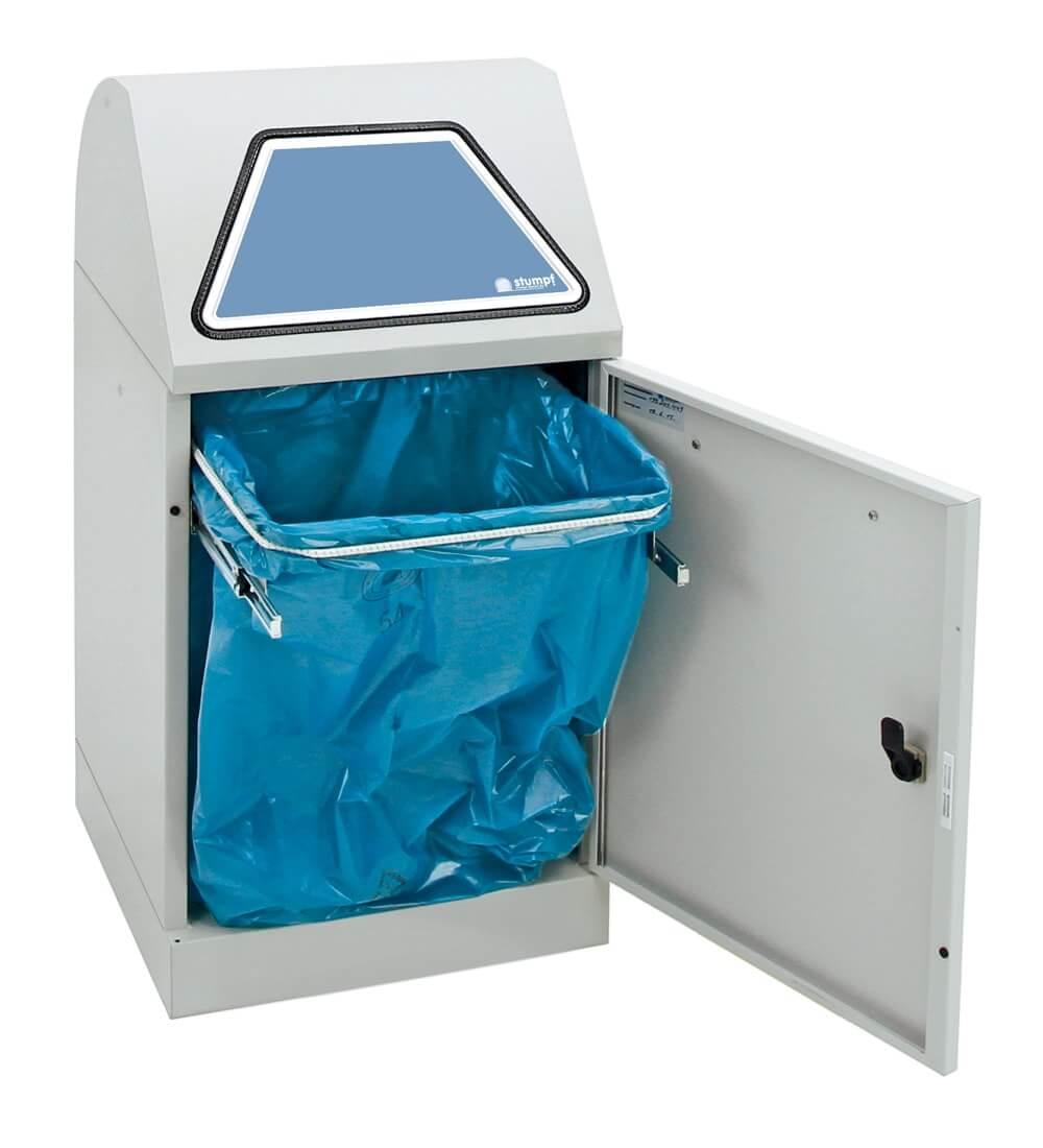 Abfalltrennung Modul-Vario 45, ProSlide-System, lichtgrau