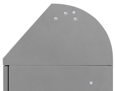 Abfalltrennung Modul-Vario 45, Stahleinsatz, graualu-struktur