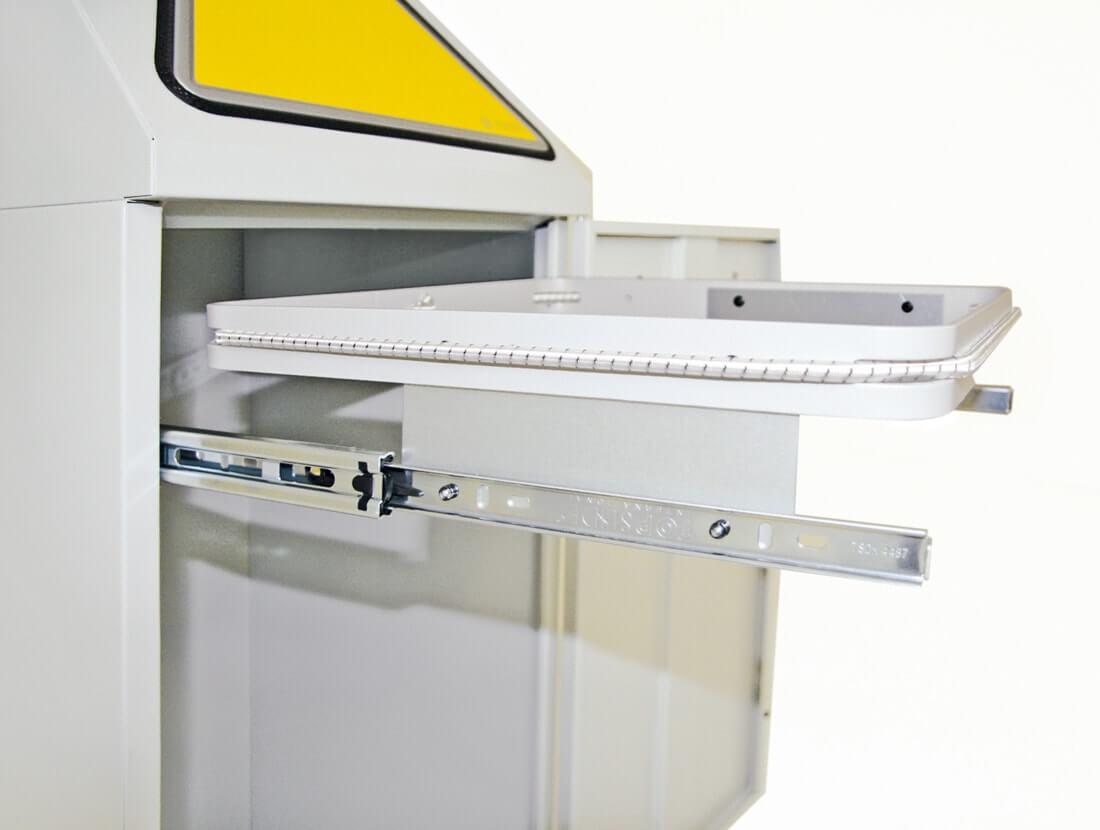 Abfalltrennung Modul-Vario 75, ProSlide-System, Trethebel, lichtgrau