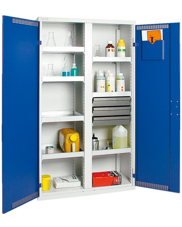 Umweltschrank Basic-Plus-5, lichtgrau/blau
