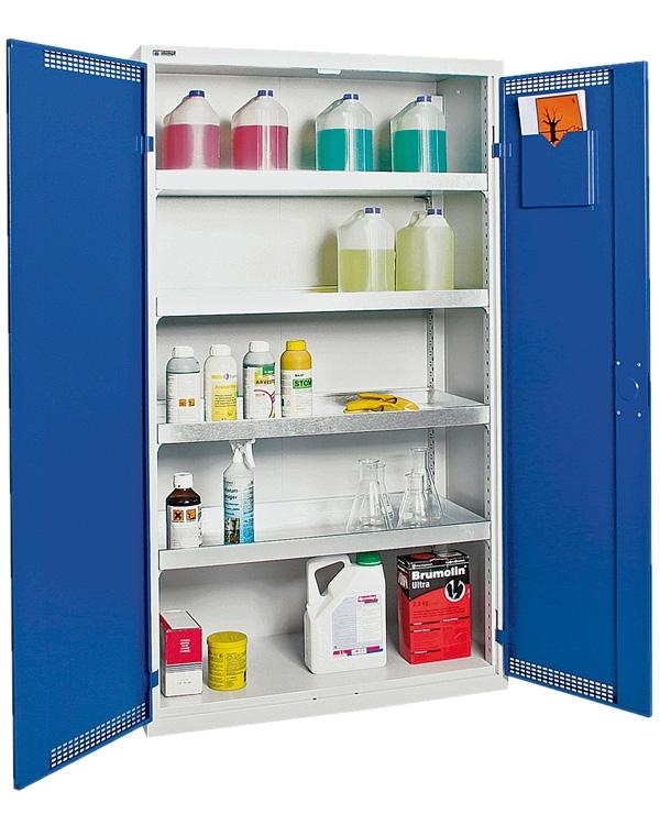 Umweltschrank Basic-Plus-4, lichtgrau/blau