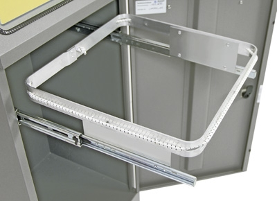 Abfalltrennung Modul-Vario 75, ProSlide-System, graualu-struktur