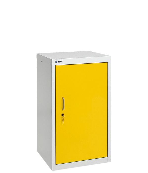 Umweltschrank Basic-1, lichtgrau/gelb