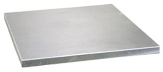 Fachboden verzinkt, klein, 500 mm breit, mit Fachbodenträgern