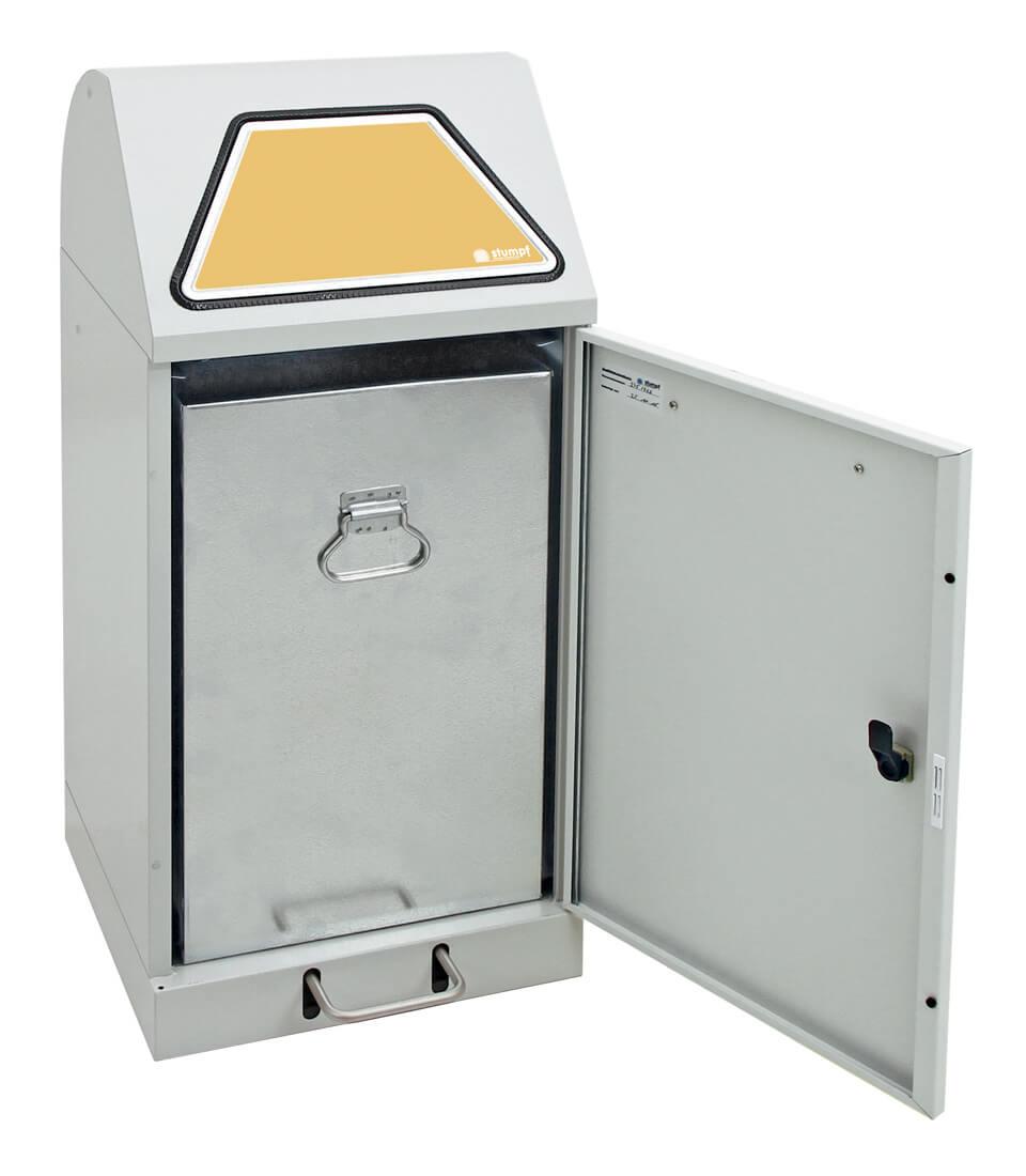 Abfalltrennung Modul-Vario 60, Stahleinsatz, Trethebel, lichtgrau