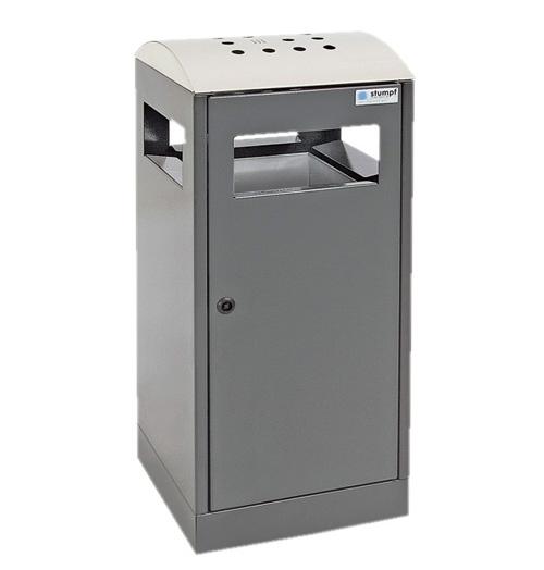 A³, 90 L - AA, Abfalltrennung mit Ascher für Außenbereiche