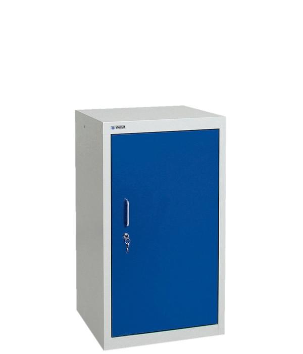Umweltschrank Basic-1, lichtgrau/blau