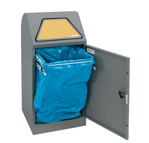 Abfalltrennung Modul-Vario 60, ProSlide-System, graualu-struktur