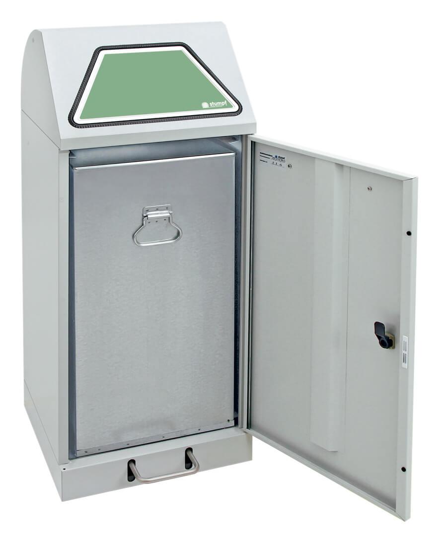 Abfalltrennung Modul-Vario 75, Stahleinsatz, Trethebel, lichtgrau