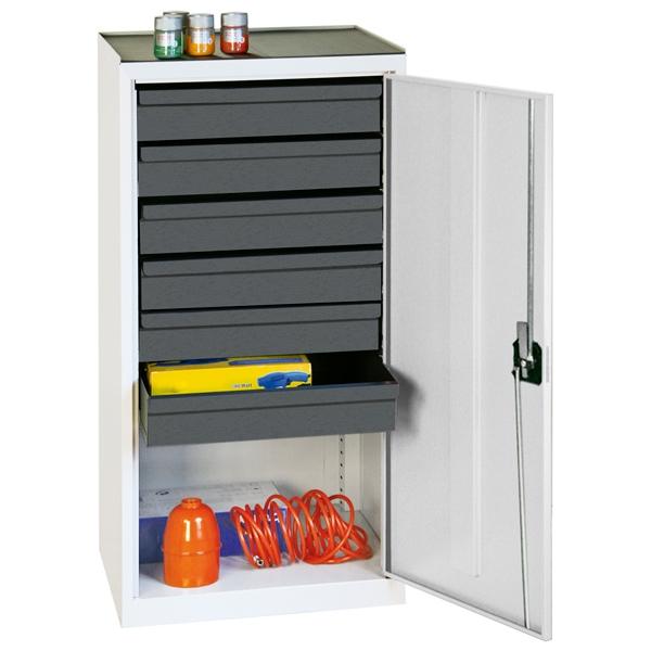 Werkzeug- und Materialschrank Serie 3000, lichtgrau