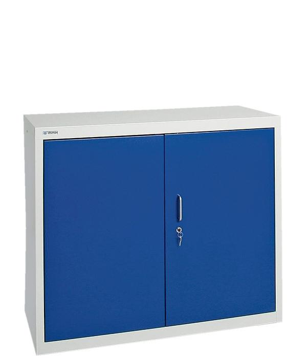 Umweltschrank Basic-2, lichtgrau/blau