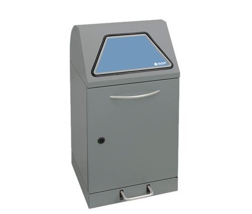Abfalltrennung Modul-Vario 45, Stahleinsatz, Trethebel, graualu-struktur