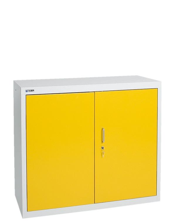 Umweltschrank Basic-2, lichtgrau/gelb