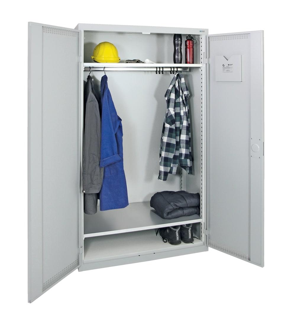 Garderobenschrank, ein großes Abteil, lichtgrau