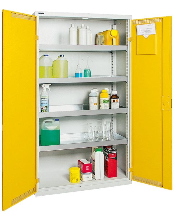 Umweltschrank StawaR-4, lichtgrau/gelb