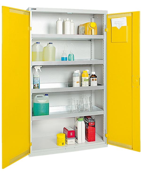 Umweltschrank Basic-Plus-4, lichtgrau/gelb