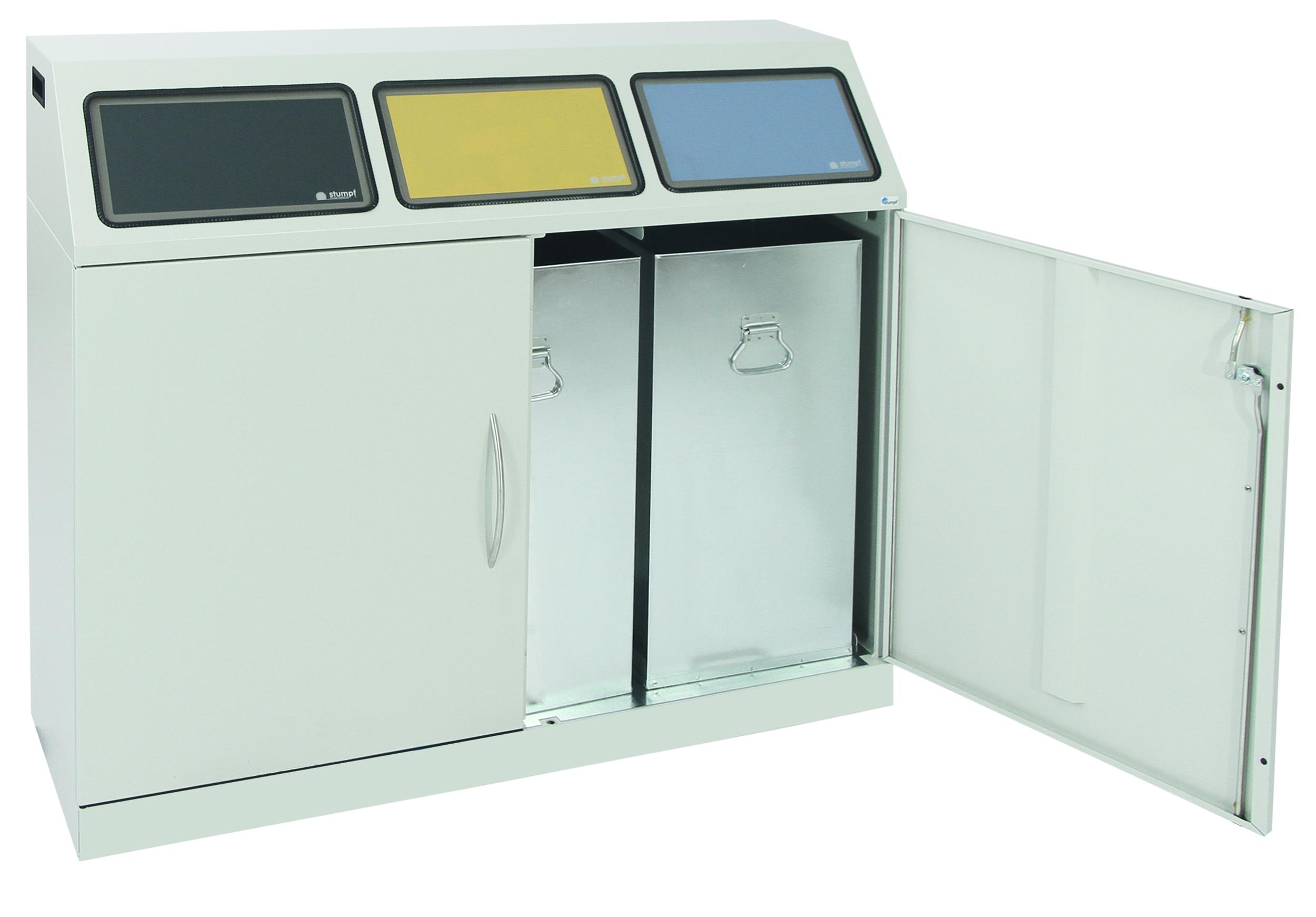 Abfalltrennung Flex-M-3fach-Sammelstation