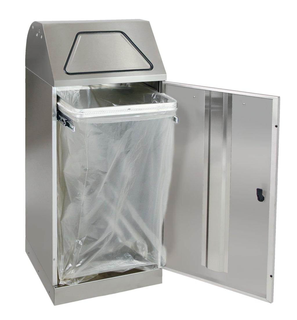 Abfalltrennung Modul-Vario 120, ProSlide-System, edelstahl