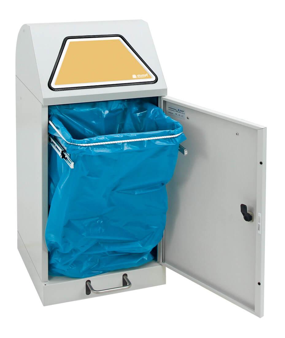 Abfalltrennung Modul-Vario 60, ProSlide-System, Trethebel, lichtgrau