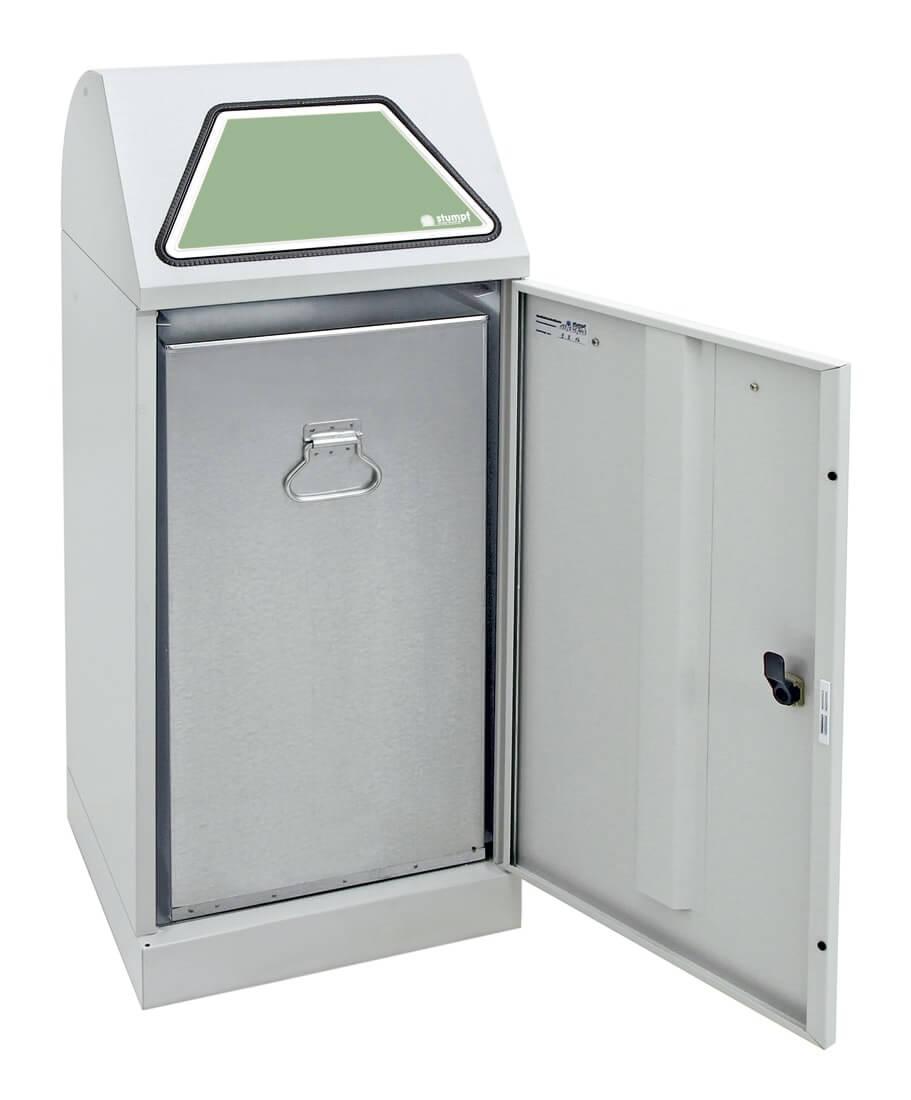 Abfalltrennung Modul-Vario 75, Stahleinsatz, lichtgrau