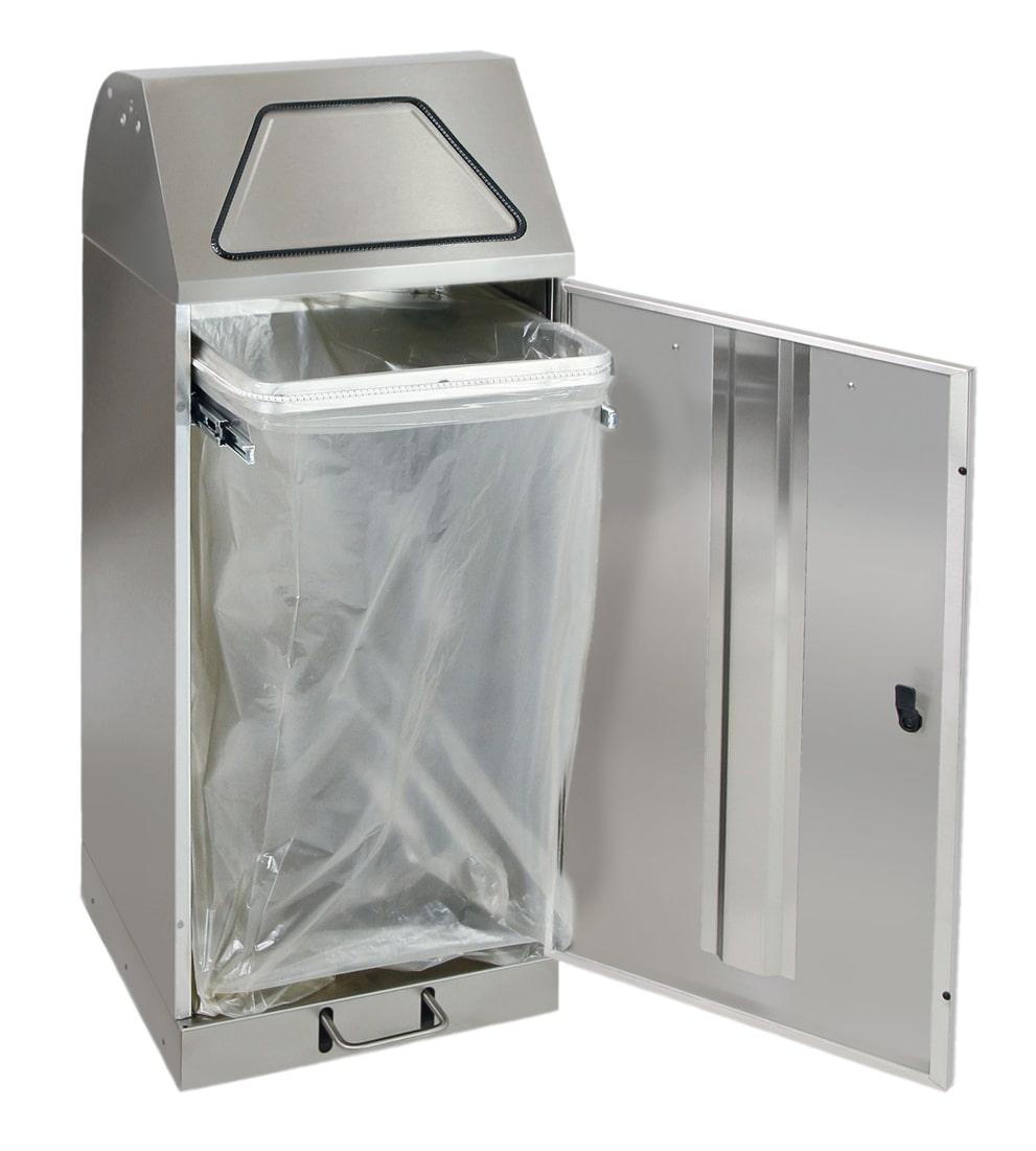Abfalltrennung Modul-Vario 75, ProSlide-System, Trethebel, edelstahl