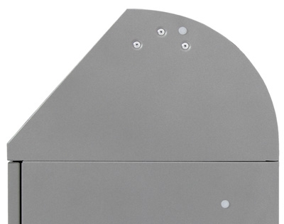 Abfalltrennung Modul-Vario 75, ProSlide-System, Trethebel, graualu-struktur