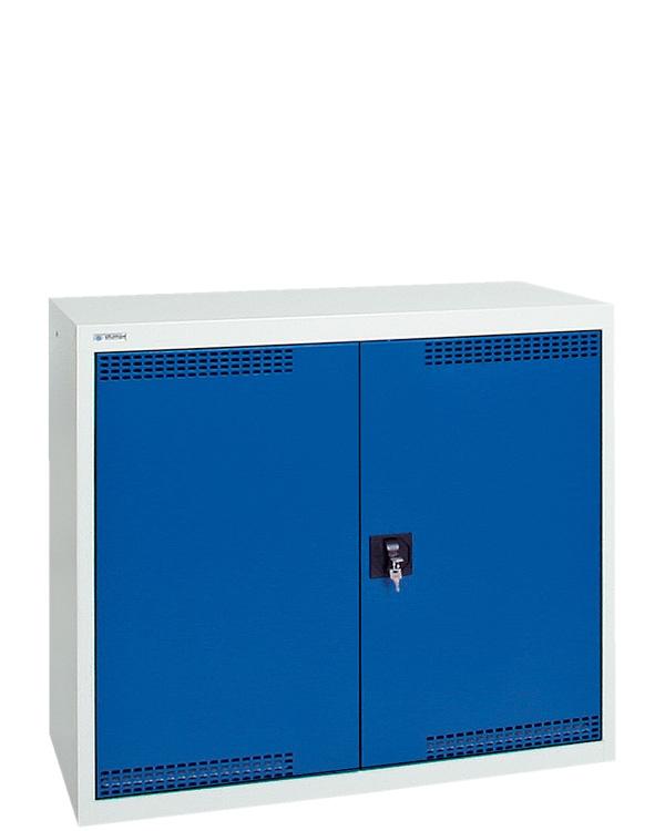 Umweltschrank Basic-Plus-2, lichtgrau/blau