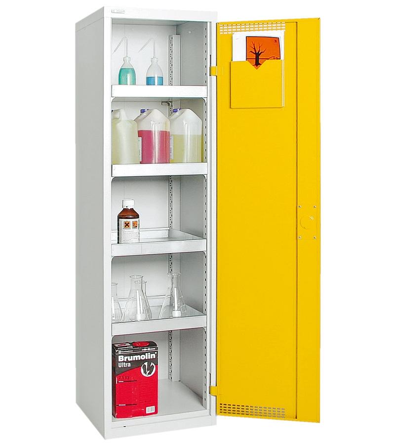 Umweltschrank Basic-Plus-3, lichtgrau/gelb