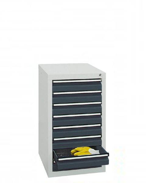 Schubladenschrank Serie ST 410-1, mit Teleskopführungen