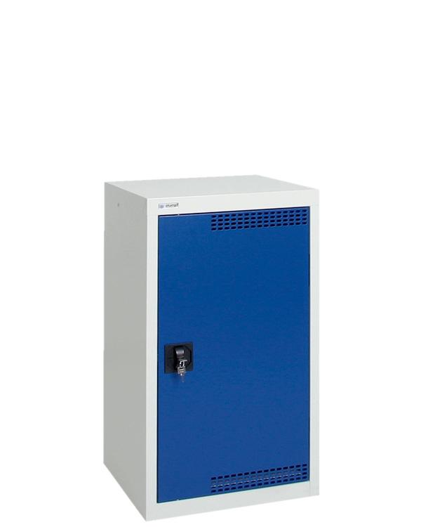 Umweltschrank Basic-Plus-1, lichtgrau/blau