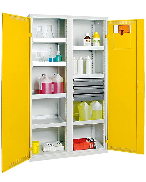 Umweltschrank StawaR-5, lichtgrau/gelb