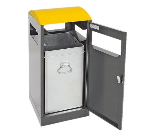 A³, 40 L, für Außenbereiche, anthrazit/gelb