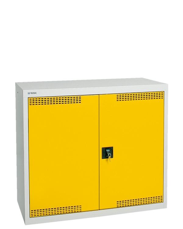 Umweltschrank Basic-Plus-2, lichtgrau/gelb