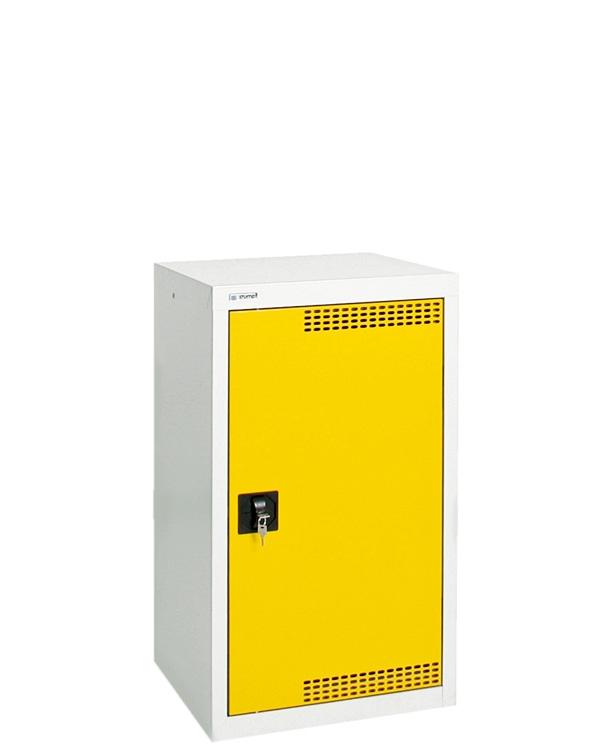 Umweltschrank Basic-Plus-1, lichtgrau/gelb
