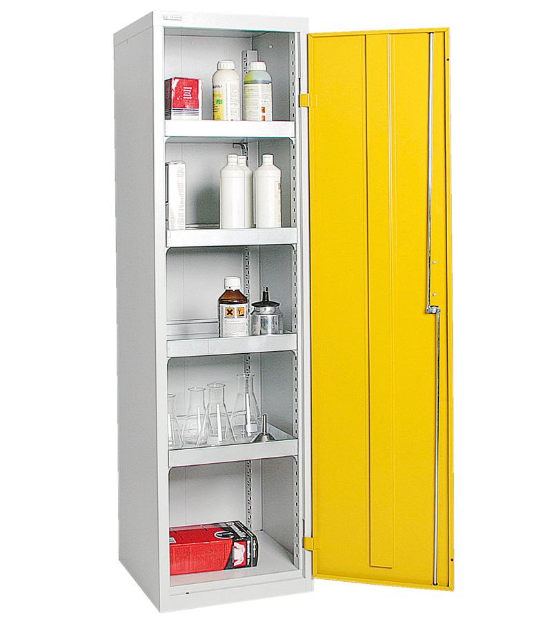 Umweltschrank Basic-3, lichtgrau/gelb