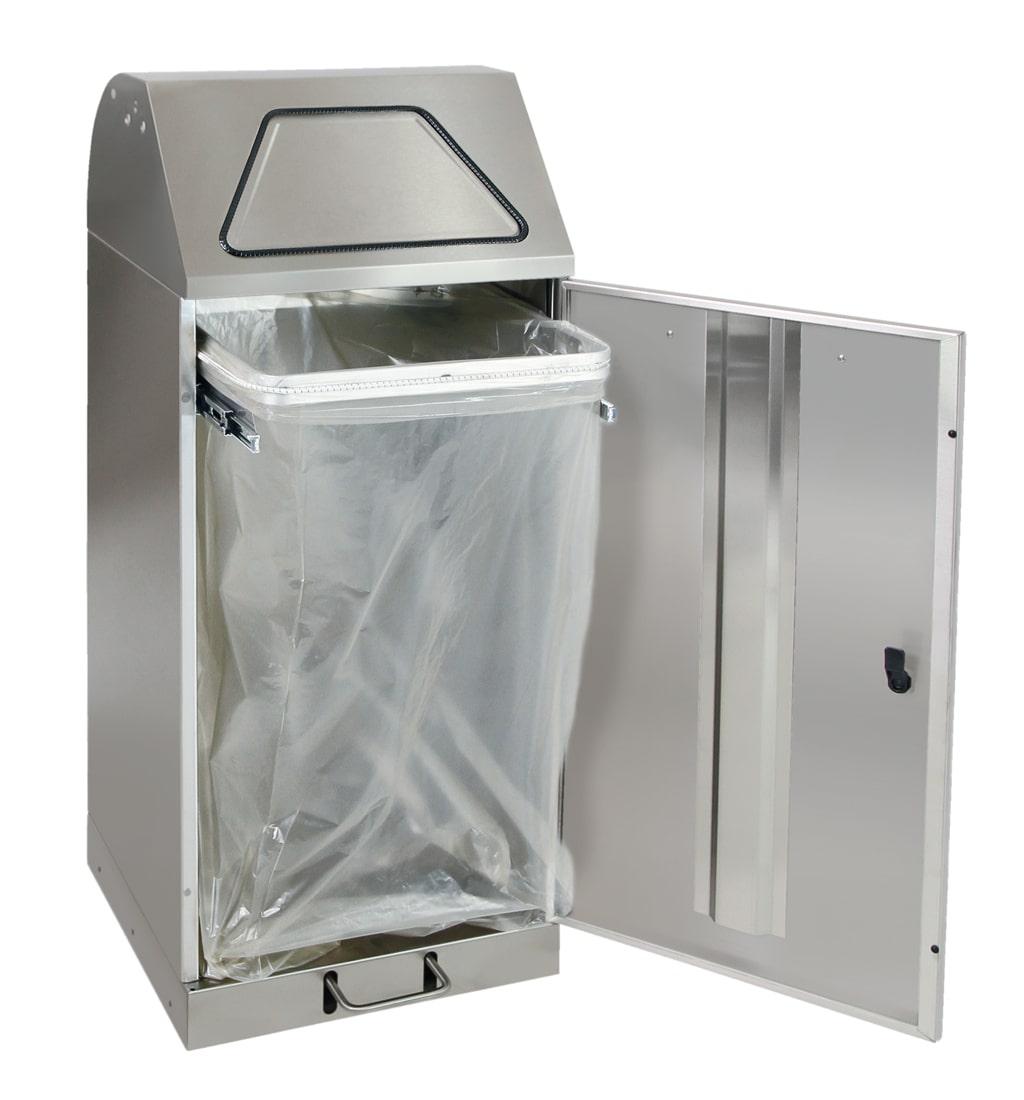 Abfalltrennung Modul-Vario 120, ProSlide-System, Trethebel, edelstahl