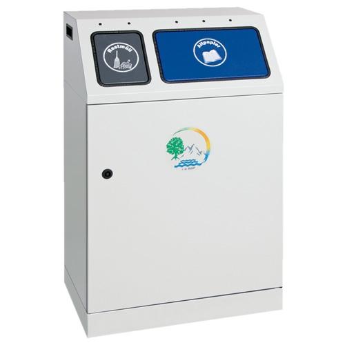 Abfalltrennung Duplex,  2-fach Sammler