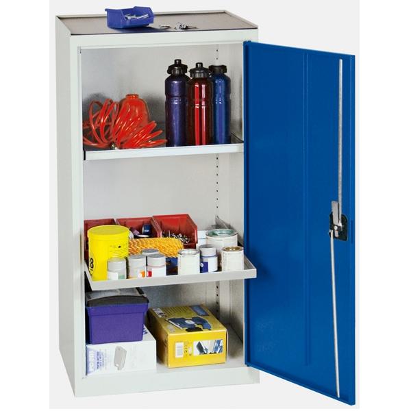 Werkzeug- und Materialschrank Serie 3000, lichtgrau/blau