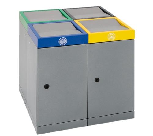 Abfalltrennung ProTec-Plus, Set: 4 x 30 Liter