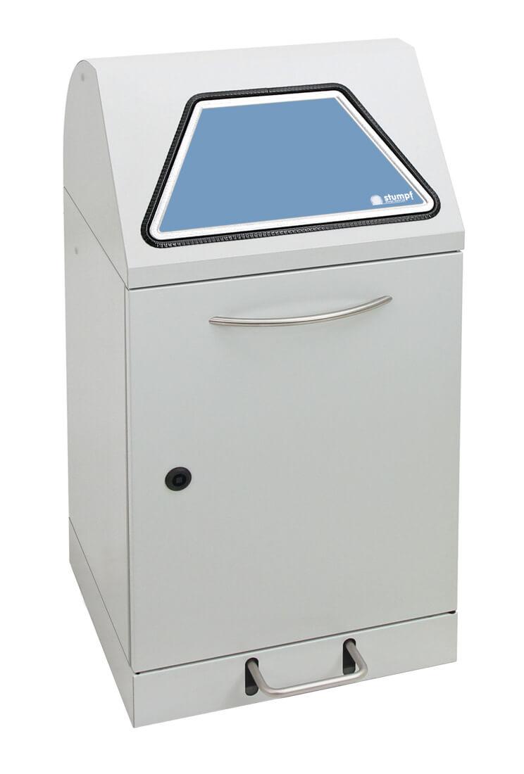 Abfalltrennung Modul-Vario 45, Stahleinsatz, Trethebel, lichtgrau