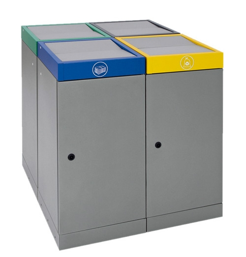 Abfalltrennung ProTec-Plus, Set: 4 x 70 Liter
