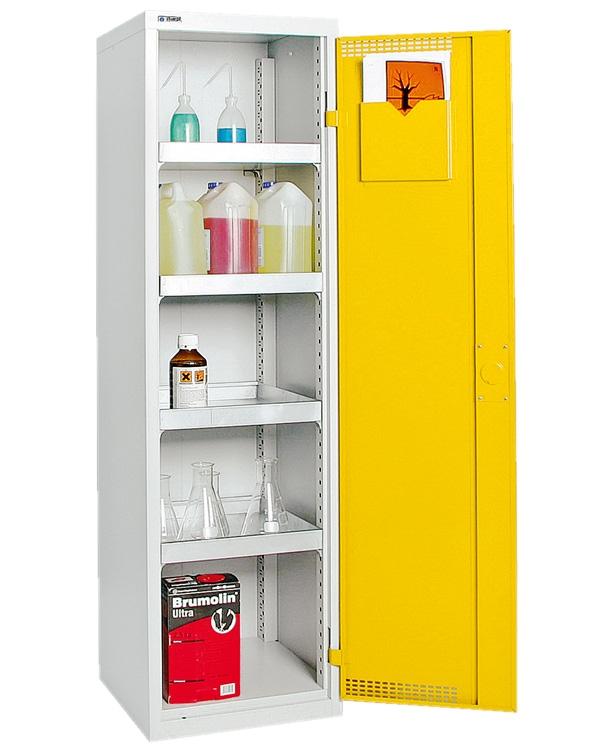 Umweltschrank StawaR-3, lichtgrau/gelb
